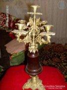 Gyonyoru antik bronz gyertyatarto