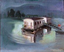 Áron Nagy Lajos : Tiszai hajóállomás 1943