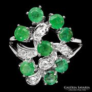 Valodi Brazil Smaragd, 925 Ezust Gyuru
