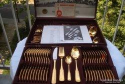 Luxus evőeszköz! 24 karát 999,9 szín arany*999,9% szín ezüst