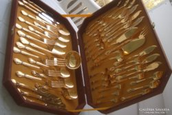 24 karátos arany varázslatos evőeszköz 6 szem.+halas szett!