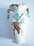 Régi aranyozott Foreign porcelán váza.