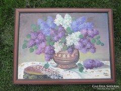 Szép orgona virág  csend élet  72,5x55 cm