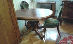 Antik Neobarokk ovális étkező asztal, az 1900-as évekből