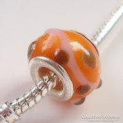 Muranoi, kézzel festett üveg pandora gyöngy ME-PA09-8