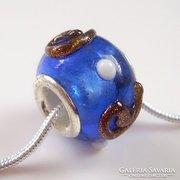 Muranoi, kézzel festett üveg pandora gyöngy ME-PA09-11