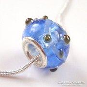 Muranoi, kézzel festett üveg pandora gyöngy ME-PA10-1