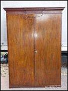 Antik intarziás neobarokk ruhás szekrény