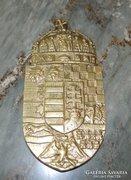 Réz magyar címer plakett.
