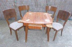 Art deco/retro kártya asztal, székek