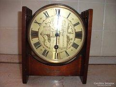 Antik orosz fa kandalló óra eladó!