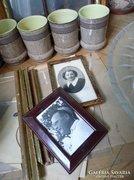 Antik portré fotók egy házaspárról kerettel