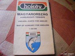 Magyarország horgászati térképe 1984
