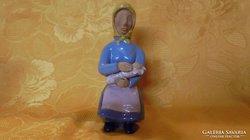 Gádor kerámia figura: Anyóka a kisbabával