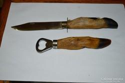 Őzlábnyelű kés és nyitó