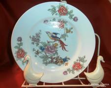 Fali tányér, paradicsom madaras motivummal