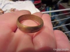 Réz karika gyűrű
