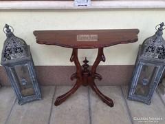Antik bútor, felújított Neóbarokk konzolasztal 04.