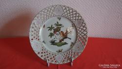 Herendi áttört fali tányér Rothschild mintás