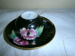 Bakos Éva (Herend) kézzel festett kávés csésze+ csészealj