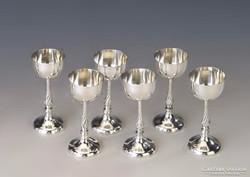 Ezüst likőrös poharak
