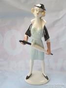 Igen nagyméretű német figura kuriózum 25 cm