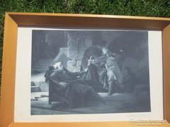 XIX. századi kép szép keretben