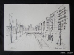 MOSSHAMMER GYÖRGY Jelzett festmény MODERN BERLIN 1965