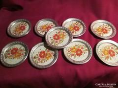 Most olcsóbban! Kerámia betétes ón tányér 10 cm Ft/db  0415