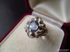 Régi ezüst gyűrű kék kővel - FŐÉ