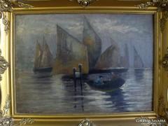 Barabás : Venezia c. festmény