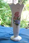 Egyedi régi herendi porcelán virágmintás nagy váza 22,5 cm