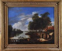 Ismeretlen 19. századi festő: Romantikus tájkép