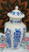 Kézzel festett nagy lengyel urna váza - fedeles váza
