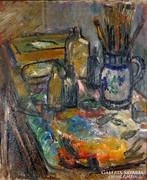 """Felsmann Tamás ( 1918-) """" Műteremrészlet"""""""