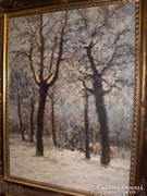 Csillag József: Téli fák  c. festménye