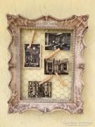 Provence bútor, antikolt fehér fénykép keret 03.