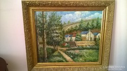 Benkhard Ágost 60x50 olaj vászon festmény elado