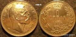 Serbia  1 dinár  1915  Ag  Ezüst