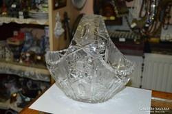 Nagyméretű kristály kosár