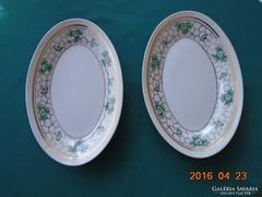 Szignós-Orbán Gizi(Zsolnay)-ovális tányér-23x15 cm-2 db