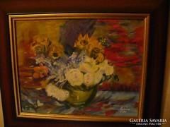 Van Gogh után egy olaj csendélet