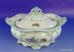 0F528 Régi nagyméretű porcelán cukorkínáló tál