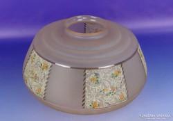 0F596 Antik nagyméretű rózsaszín lámpa búra