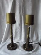 Régi különleges asztali lámpa párban