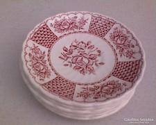 Bordó rózsa mintás 6 darab csészealj