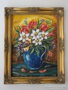Tavasztündér csodás virágai - festmény különlegesség
