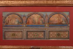 Lotz Károly (1833-1904): Freskóvázlat