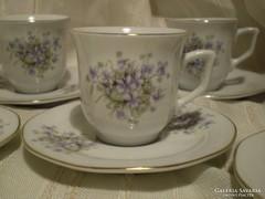 Kínai porcelán : 6 sz. mokkás szett
