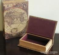 Könyv doboz 2 db (térképes)